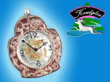 Koselglas Christbaumschmuck Wecker Uhr Nostalgie Lauscha Baumbehang