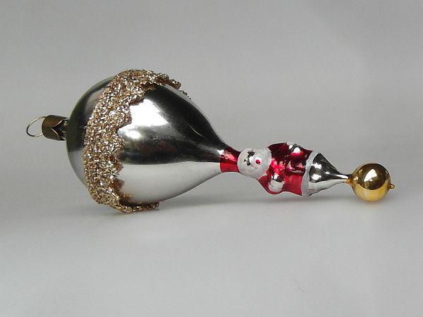koselglas christbaumschmuck ballon mit weihnachtsmann. Black Bedroom Furniture Sets. Home Design Ideas