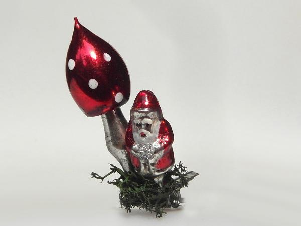 koselglas christbaumschmuck weihnachtsmann fliegenpilz. Black Bedroom Furniture Sets. Home Design Ideas